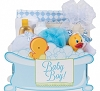 Adorable New Baby Boy Gift Basket