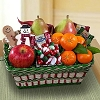 A Jolly Holiday Fruit Gift Basket