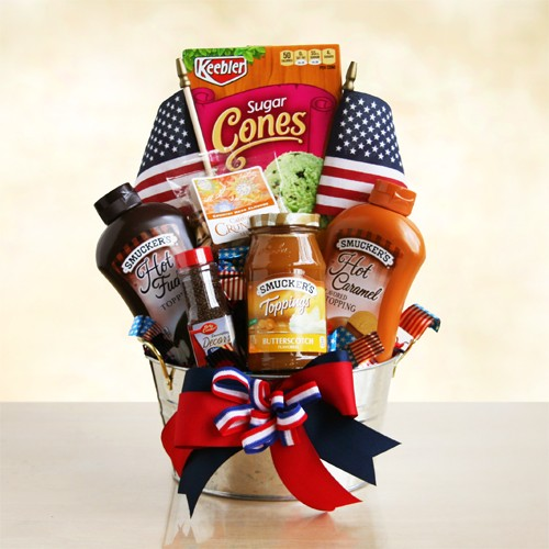 All America Ice Cream Gift Basket