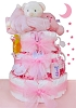 Baby Bear 3 Tier Diaper Cake For Girl
