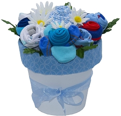 Deluxe Baby Blooms Baby Clothes Bouquet Baby Gift- Boy