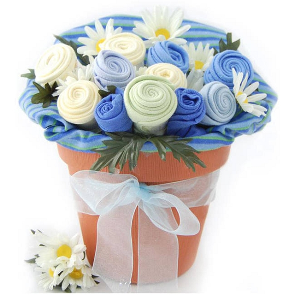 Baby Blooms Baby Clothes Bouquet Baby Gift- Boy