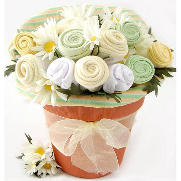 Baby Blooms Baby Clothes Bouquet Baby Gift