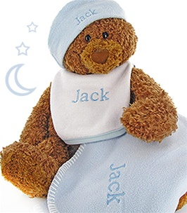 Baby Personalized Gift Set & Gund Bear