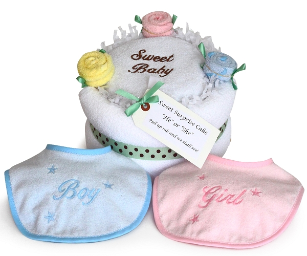 Sweet Baby Surprise Layette Cake