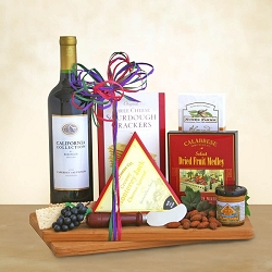 Beringer Cabernet Wine and Gourmet Gift Basket