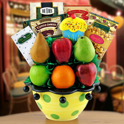 Birthday Party Snacks & Fruit Gift Basket