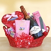 Bubbly Valentine: Valentine's Day Wine & Sweets Gift Basket