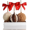 Caramel Chocolate Gourmet Apple Trio Gift Set Of 3
