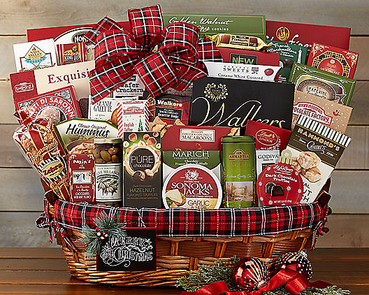 Cheerful Christmas Deluxe Gift Basket