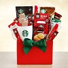 Cheerful Starbucks Holiday Coffee Gift Basket