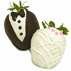 Chocolate Bride & Groom Covered Berries
