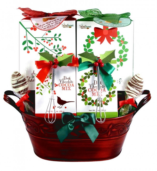 Christmas  Wreath of Treats Gift Basket