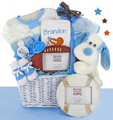Classic All Star Baby Gift Basket - Boy