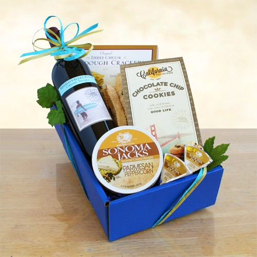 Classic Wine & Cheese Basket