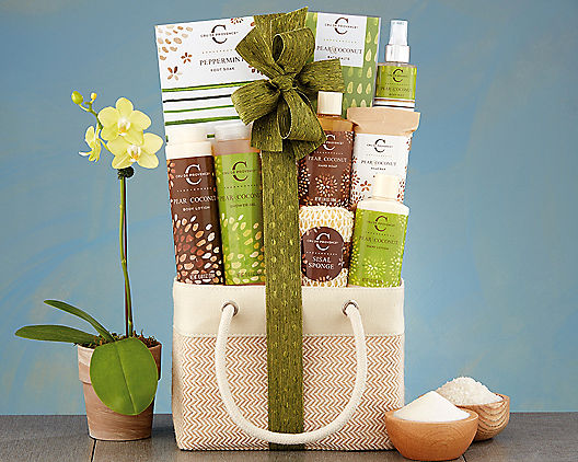 Pear and Coconut Spa Gift Basket