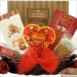 Crazy About You! Valentine's Day Gift Basket