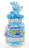 Cutest Giraffe Three Tier Diaper Cake For Baby Boy
