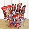 Favorite Snacks & Beer Gift Basket