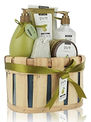 Deluxe Pear Spa Gift Basket Collection