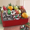 Deluxe Holiday Treats and Fruit Gift Basket