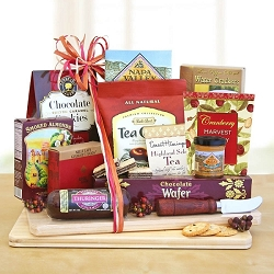 Deluxe Snack and Gourmet Cheese Gift Basket