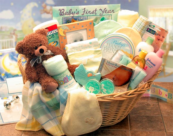 Deluxe Welcome Home New Baby Basket