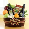 Distinctive Wine & Fruit Gift Basket