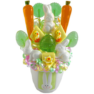 Easter Bunny Hop Candy Bouquet