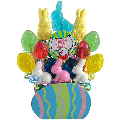 Easter Eggs: Lollipop Candy Bouquet