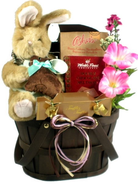 Easter Surprise: Chocolate Scented Bunny Gift Basket