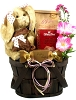 Easter Surprise: Chocolate Scented Bunny Gift Basket (Girl)