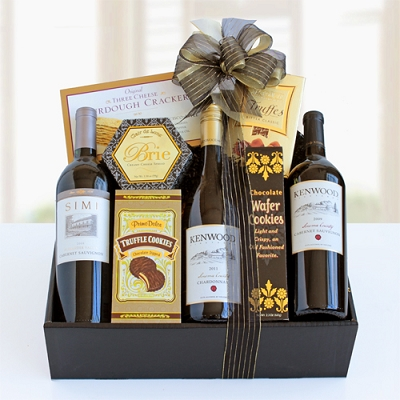 Fabulous Triple Wine & Gourmet Gift Basket