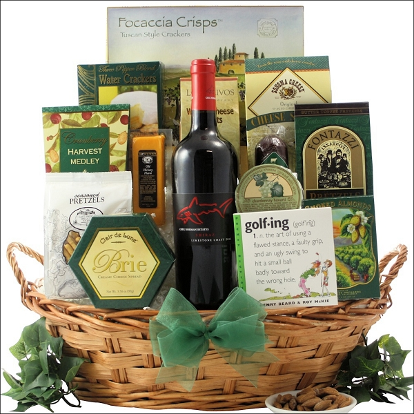 Father's Day Golf & Wine Gift Basket