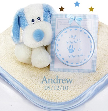 Personalized Fattamano Keepsake Gift Set For Boy