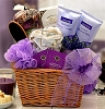 Flowering French Lavender Spa Gift Basket