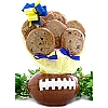 Football Gourmet Cookies Planter - 6 Cookies