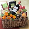 Fresh Fruit and Grapes Gift Basket Deluxe
