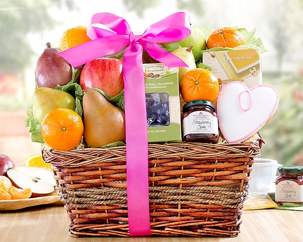 Fresh Fruit and Treats Gift Basket