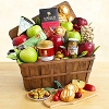 Fall Gourmet Bounty: Fruit and Cheese Gift Basket