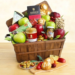 Grand Gourmet Cheese and Fruit Gift Basket