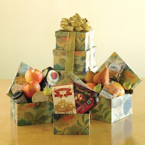 Orchard Fruit  & Snack Gift Tower