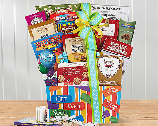 Get Well Soon Wishes Gift Basket