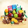 Ghirardelli & Fruit Celebration Gift Basket