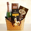 Glittering Wishes Gourmet and Wine Gift Basket