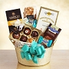 Golden Chocolate Dreams Gift Basket