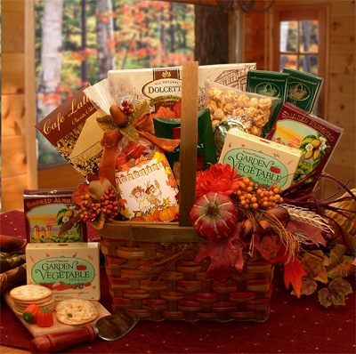 Gourmet Harvest Blessings: Fall Gift Basket
