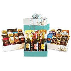Wine and Gourmet Grand Party Gift Basket