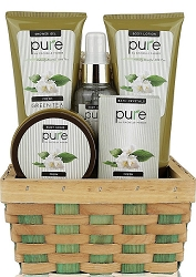 Green Tea Herbal Spa Gift Basket For Her