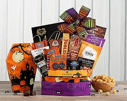 Halloween Sweets and Chocolate Gift Basket